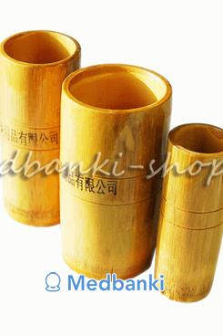 Бамбуковые массажные вакуумные банки 3шт
