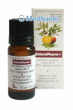 Смесь 100% эфирных масел №3 для бани и сауны «Aromacosmetics», 10 мл, и/к, Галенофарм