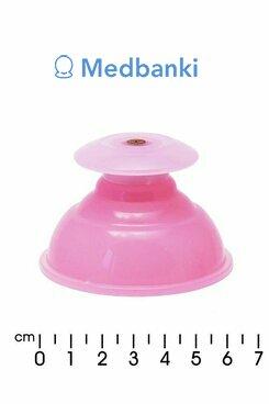 Силиконовая вакуумная массажная банка 1шт, розовая с захватом