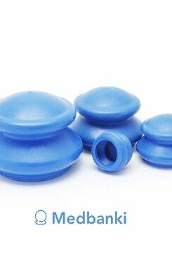 Антицеллюлитные резиновые вакуумные массажные банки 4шт
