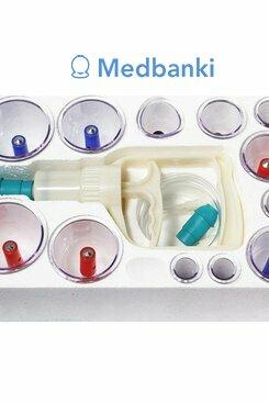 Массажные вакуумные банки с насосом 12 шт